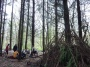 Pause crêpes au milieu des bois