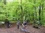 Pause ravito dans les bois